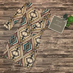 Billabong Aztec Diamond Print Body Con Dress